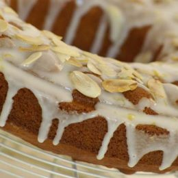 Almond and Orange Cake Drizzled with Lemon Icing