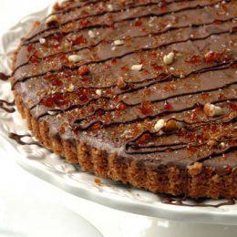 Amaretti Chocolate Tart