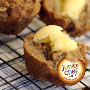 Apple and Pecan Muffins with Honey Butter
