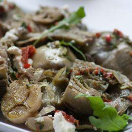 Artichoke Salad with Salsa Verdi