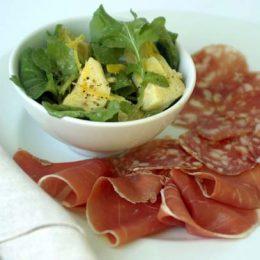 Artichoke and Lemon Salad with Rocket and Italian Deli Meats