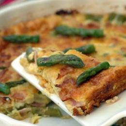 Asparagus and Ham Crustless Quiche