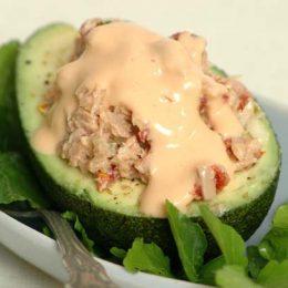 Avocado Ritz with Tuna