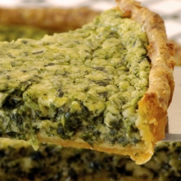 Blue Cheese and Spinach Quiche