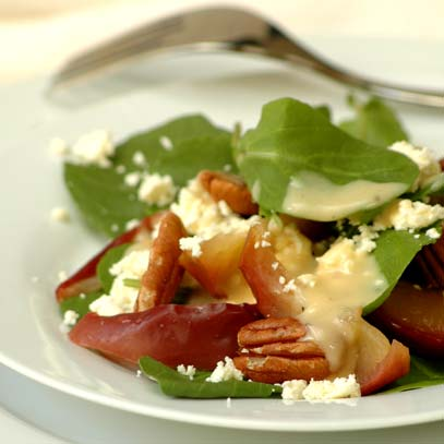 Baked Apple Salad with Pecans and Feta