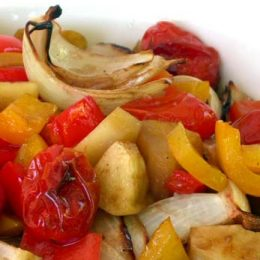 Baked Vegetables with Apple and Balsamic