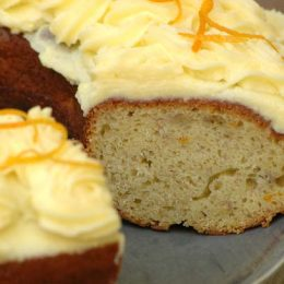 Banana and Orange Cake with Cream Cheese Icing