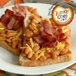 Beans and Bacon on Toast