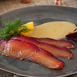 Beetroot Cured Salmon Gravlax