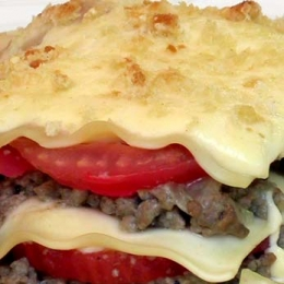 Best Meat Lasagne with Fresh Tomato