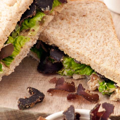 Biltong Sandwiches with Beefy Butter