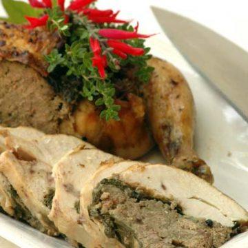 Boned Stuffed Chicken