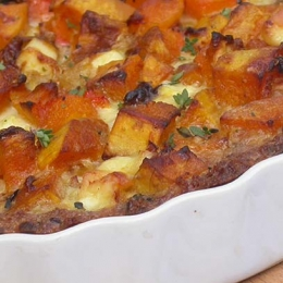 Butternut and Feta Quiche with Wholewheat Breadcrumb Crust