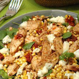 Cajun Chicken and Grilled Corn Salad