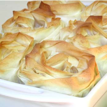 Chicken Pie With Phyllo Pastry Roses Ina Paarman