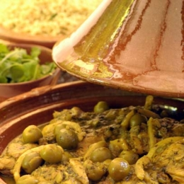 Chicken Tajine with Green Olives and Preserved Lemon
