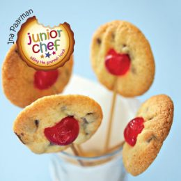 Chocolate Chip Lollipops with Cherries