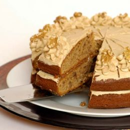 Coffee and Walnut Cake with Butter Icing