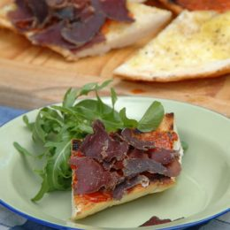Fire Grilled Tomato Bread with Biltong