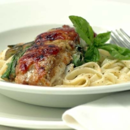 Fish with Olive and Parmesan Topping