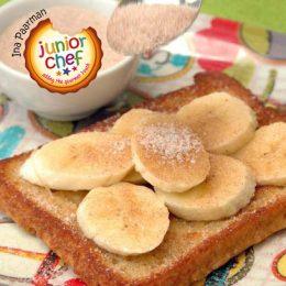 French Toast with Cinnamon Sugar and Banana