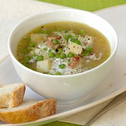 Green Pea Soup with Bacon