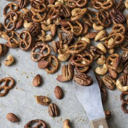 Honey Roasted Nuts and Pretzels