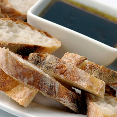 Italian or French Bread with Olive and Balsamic Dip