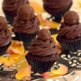 Malted Chocolate Mini Cupcakes