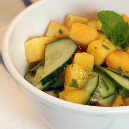 Mango and Cucumber Salsa with Mint