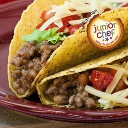 Mince and Bean Tacos