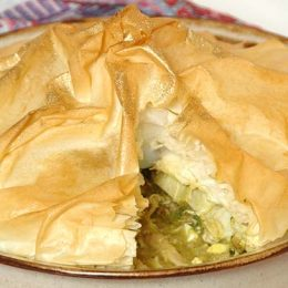 Moroccan Chicken Pie with Feta and Artichokes