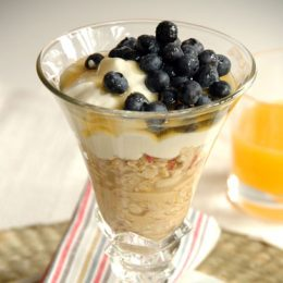 Muesli, Bircher Style with Yoghurt, Honey and Fruit