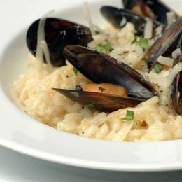 Mussel Risotto with Cheese