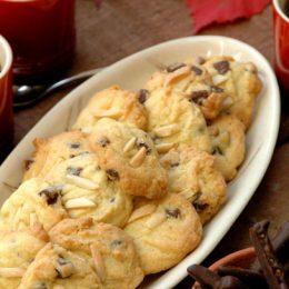 Orange and Almond Chocolate Cookies