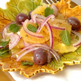 Orange and Red Onion Salad with Cumin