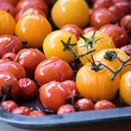 Oven Roast Cherry Tomatoes