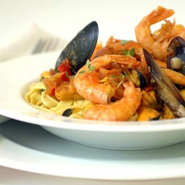 Paella Style Tagliatelle