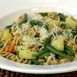 Pasta with Potatoes and Pesto