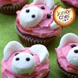 Pink Cupcake Piggies