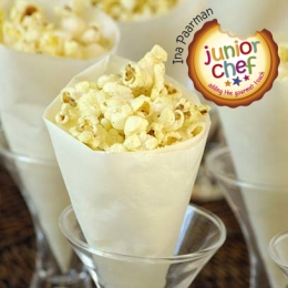 Popcorn Cones with Flavoured Butter