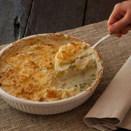 Potato Gratin with Spring Onions