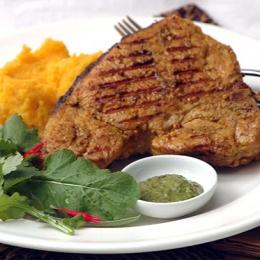 Pork Chops with Mixed Mash