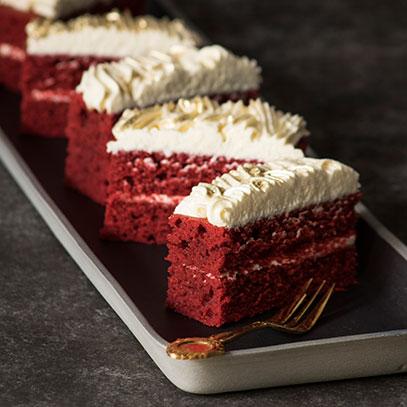 Red Velvet Cream Slices