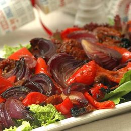 Roasted Red Pepper and Onion Salad