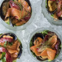 Seafood Salad with Nectarines