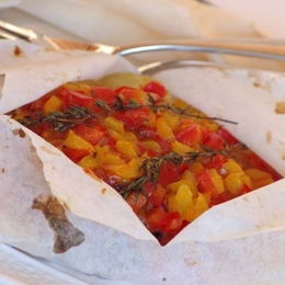 Slimmer's Fish Parcels with Bell Peppers