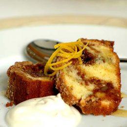 Sour Cream Cinnamon Cake with Pecan Streusel