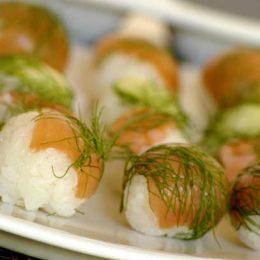 Sushi Balls with Accompaniments