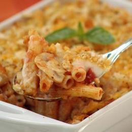 Tomato and Mushroom Pasta Bake